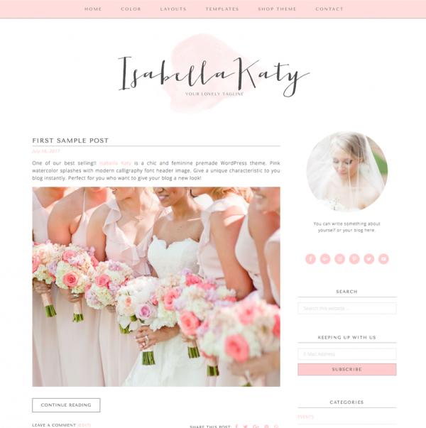 Isabella Katy Feminine Wordpress theme