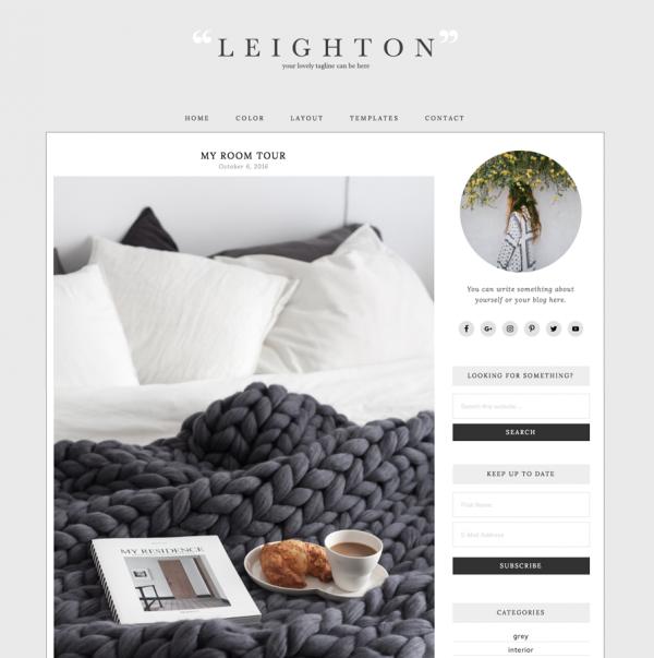 Leighton Feminine Wordpress theme