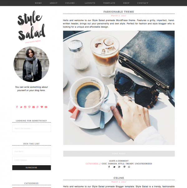 Style Salad Feminine Wordpress theme