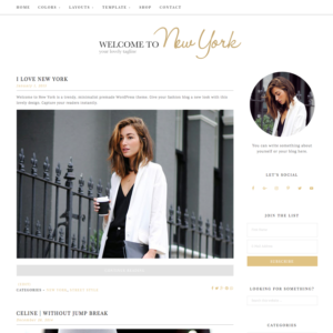 welcome to New York Feminine Wordpress theme