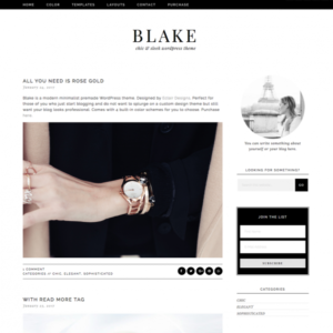 Blake Feminine Wordpress theme