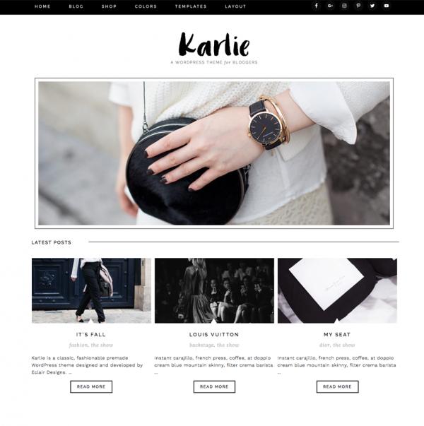 Karlie Feminine Wordpress theme