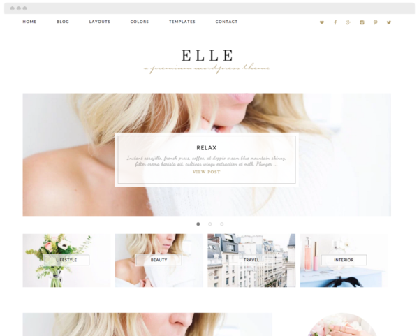 Eclair Designs - Wordpress theme