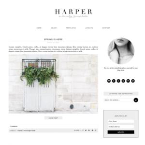 Harper Feminine Wordpress theme