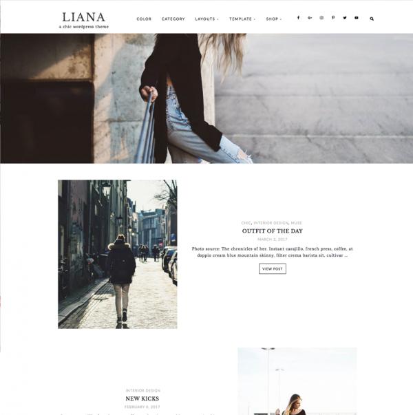 Liana Feminine Wordpress theme