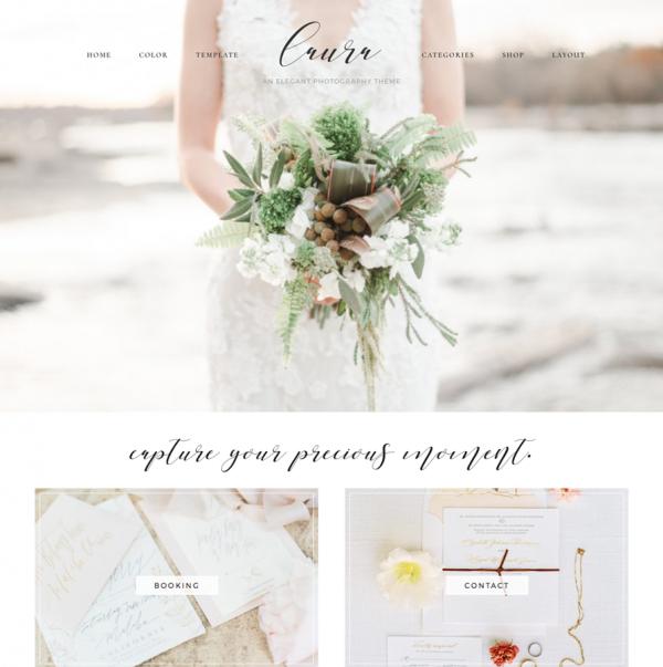 Laura Feminine Wordpress theme